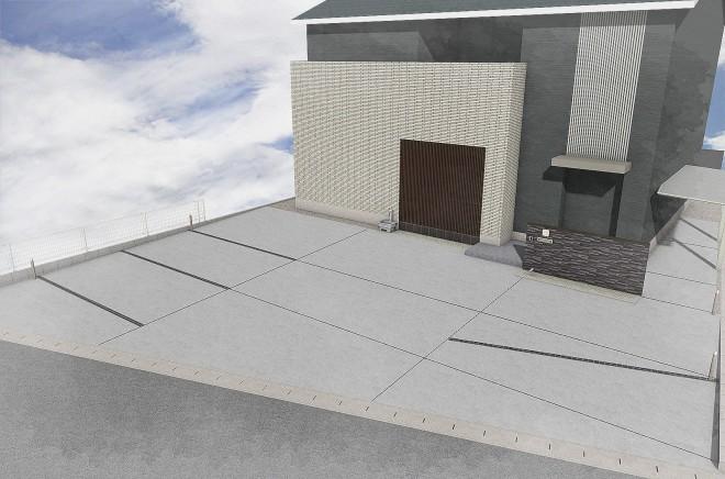 駐車場を兼用した外構の提案