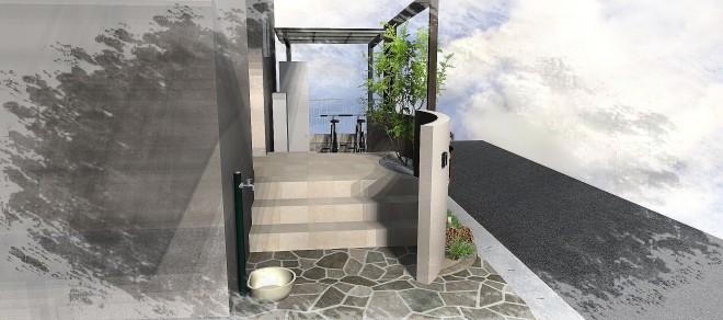 プラスGでオープン外構のオシャレな庭