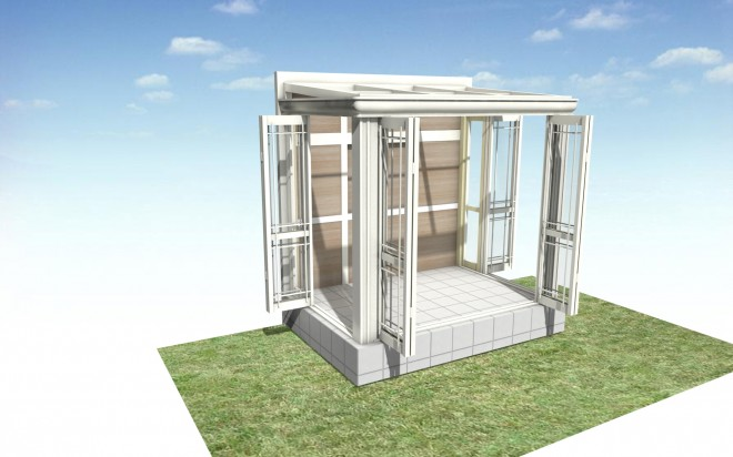 LIXIL ガーデンルーム 暖蘭物語 フルガラス仕様 独立タイプ プラスG