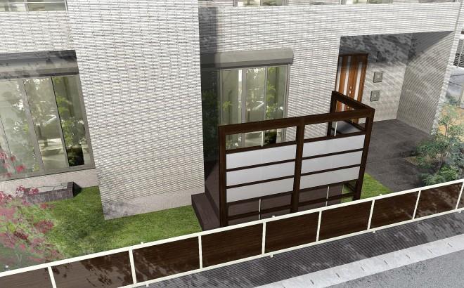 リクシル プラスG 横格子 フェンス セレビューRP3型 越谷市 トヨタホーム