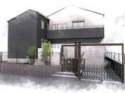 県民共済住宅のモダンな建物をリクシルのプラスGでコーディネートしたモダンエクステリア
