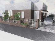 一条工務店 建物のタイルとコーディネートしたクローズドエクステリア