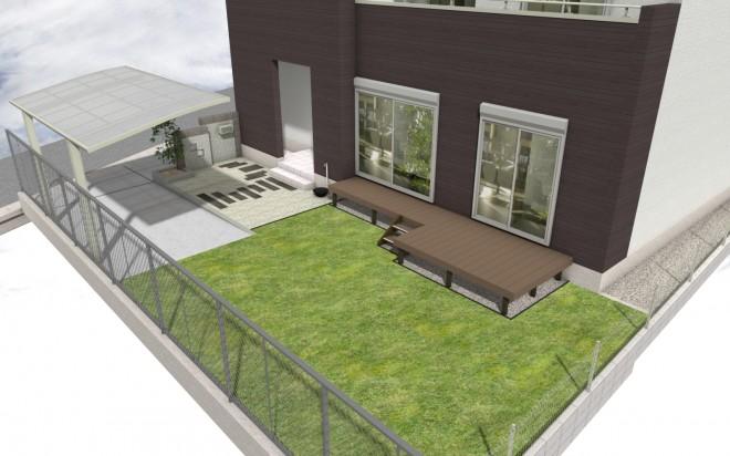 お庭も門周りも出来る200万外構プラン
