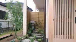 久喜市  T様邸  外からも中からも楽しめる坪庭!