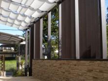 埼玉県白岡市 ガーデンルーム ココマ 腰壁オープンテラスタイプ 大興