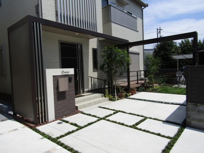 埼玉県さいたま市 LIXIL プラスG オープン外構施工例