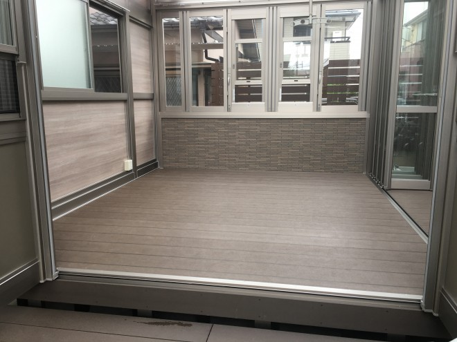 埼玉県川口市 ガーデンルーム 暖蘭物語 腰壁タイプ 独立仕様