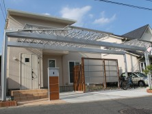 M-SHADE Mシェード 三協立山 埼玉県|外構施工例