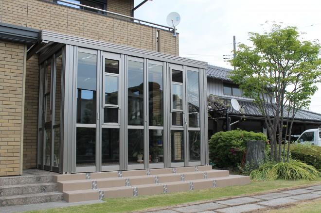 ガーデンルーム(サンルーム) 暖蘭物語 リフォーム 埼玉県久喜市 特殊収め