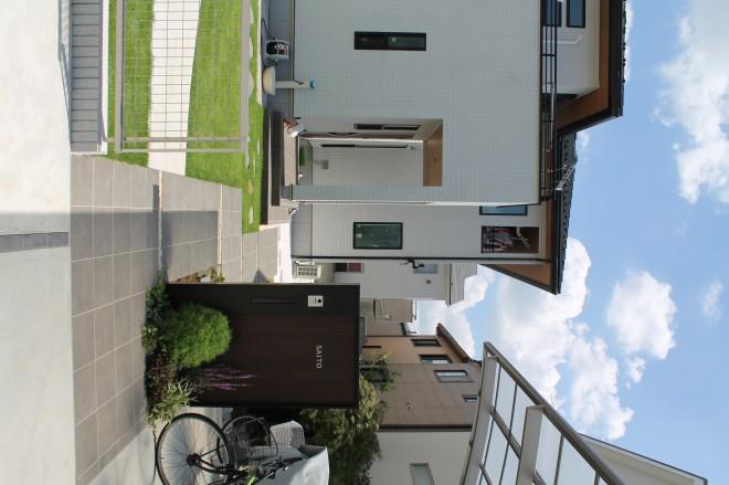 埼玉県さいたま市 外構施工例 YKK ルシアスウォール門柱 大興