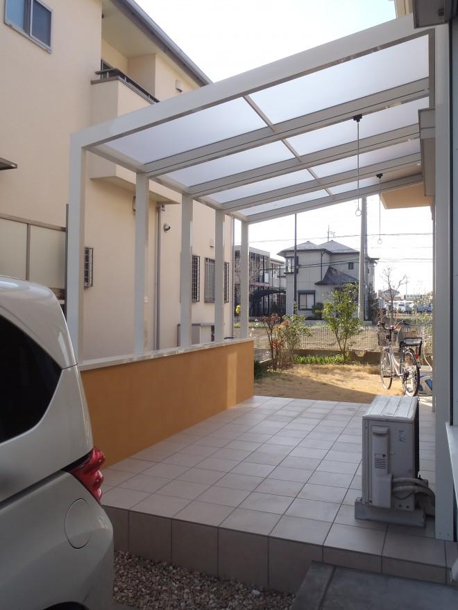 ガーデンラウンジココマ オープンテラス腰壁タイプでガーデンリフォーム 埼玉県久喜市 積水ハウス