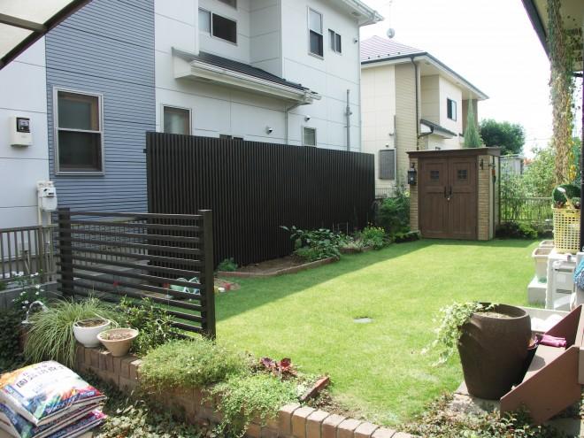 ディーズガーデン カンナ物置でおしゃれなお庭に ガーデンリフォーム施工例
