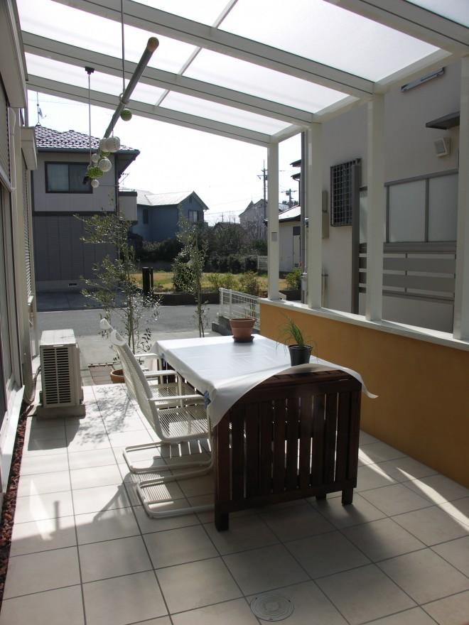 ガーデンラウンジココマ オープンテラス腰壁タイプで風を感じるガーデンにリフォーム 積水ハウス 久喜市