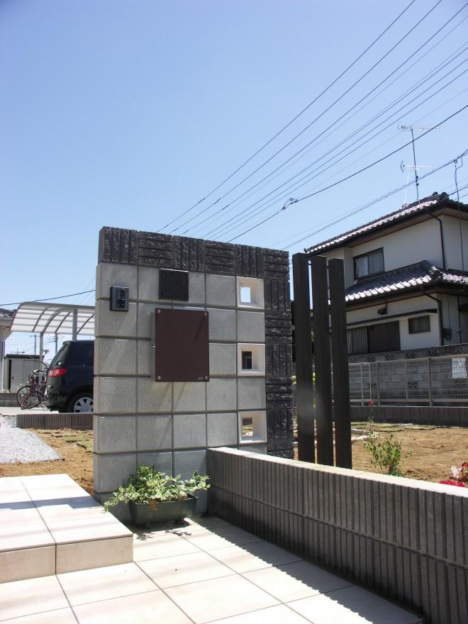 マチダコーポレーション ユーキューブマルスを使用したモダンなオープン外構施工例 一条工務店 鴻巣市