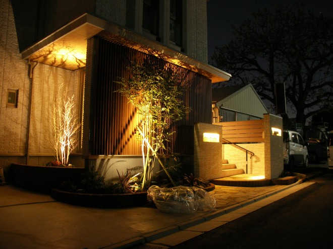 LED照明で高級感のあるファザードに さいたま市緑区 積水ハウス