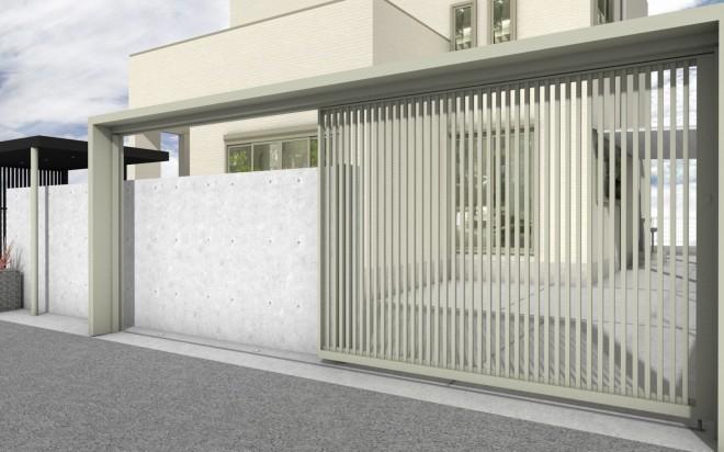 LIXIL プラスG リニア吊引戸 電動 ゲートフレーム 埼玉県さいたま市 大興