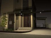 柿渋のプラスGでスタイリッシュな門周りに LEDダウンライト