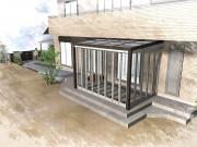 ガーデンルームジーマ タイルテラスでメンテナンスフリーに