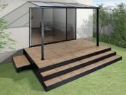 リクシル タイルデッキ 乾式工法 工期短縮 600角 木目デザイン